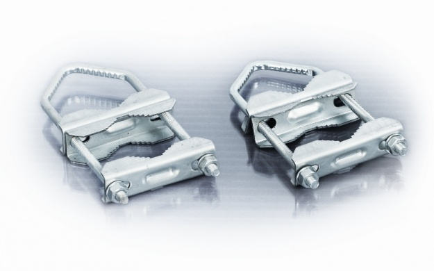 Double U Clamp Set To Attach 2 Poles Together Or Mount A