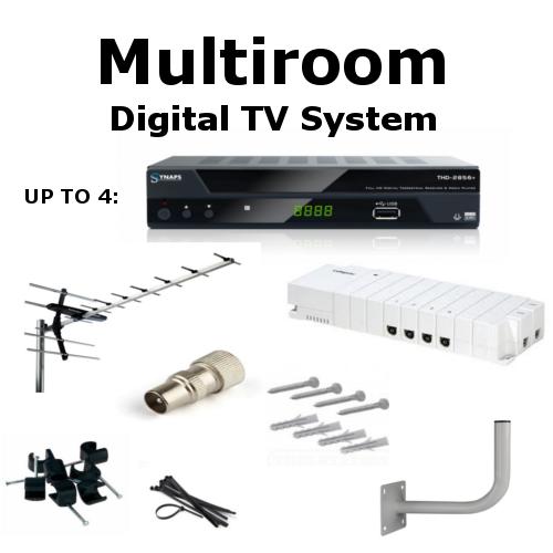 Multiroom Digital TV Box & Saorview UHF Aerial Kit for Watching all ...